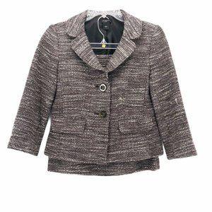 Ann Taylor Womens Skirt Suit Brown Size Petites 2